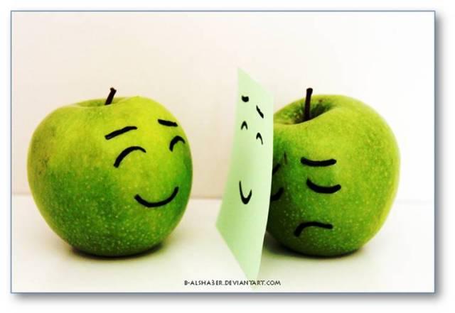 behind smile